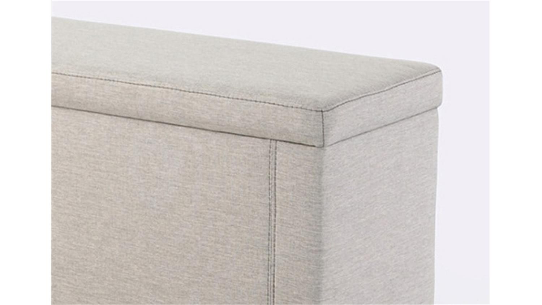 hockerbank rumba hocker polsterbank bettbank in beige 140. Black Bedroom Furniture Sets. Home Design Ideas