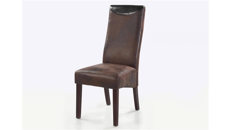 stuhl 2er set toulon antiklederoptik braun vintage. Black Bedroom Furniture Sets. Home Design Ideas
