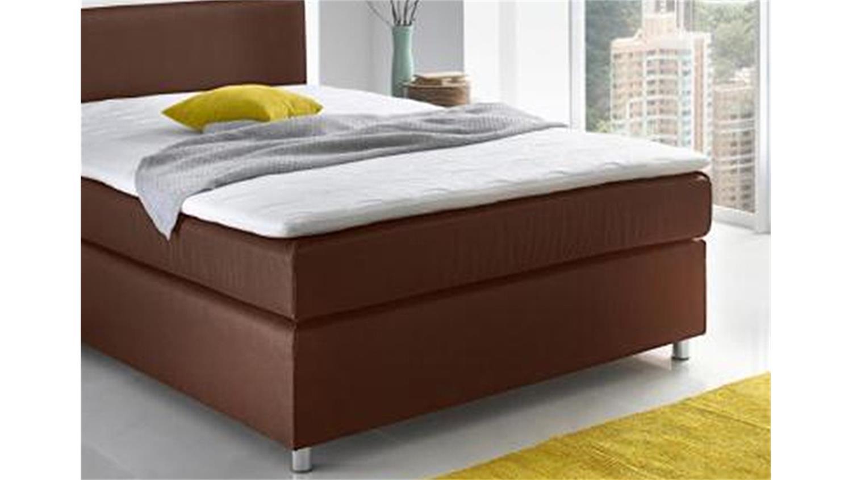 boxspringbett toca bett schlafzimmerbett in braun 140x200. Black Bedroom Furniture Sets. Home Design Ideas