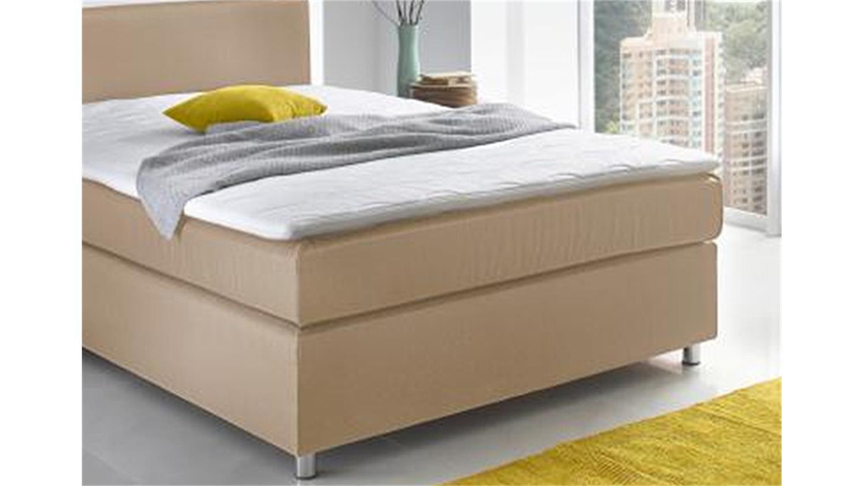 boxspringbett toca bett schlafzimmer stoff natur 140x200 cm
