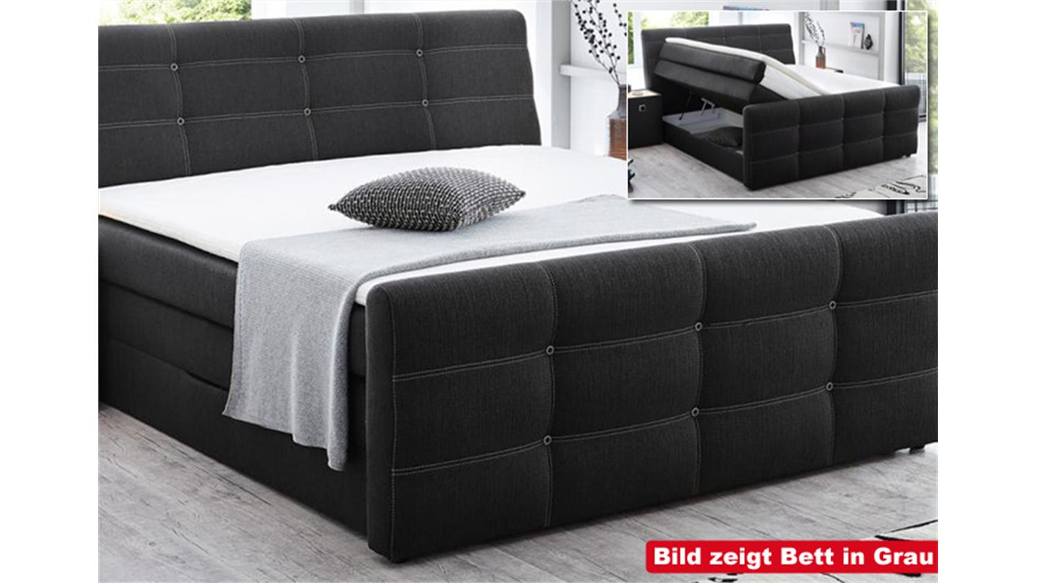 boxspringbett grande cappuccino 180x200 cm produktvideo. Black Bedroom Furniture Sets. Home Design Ideas