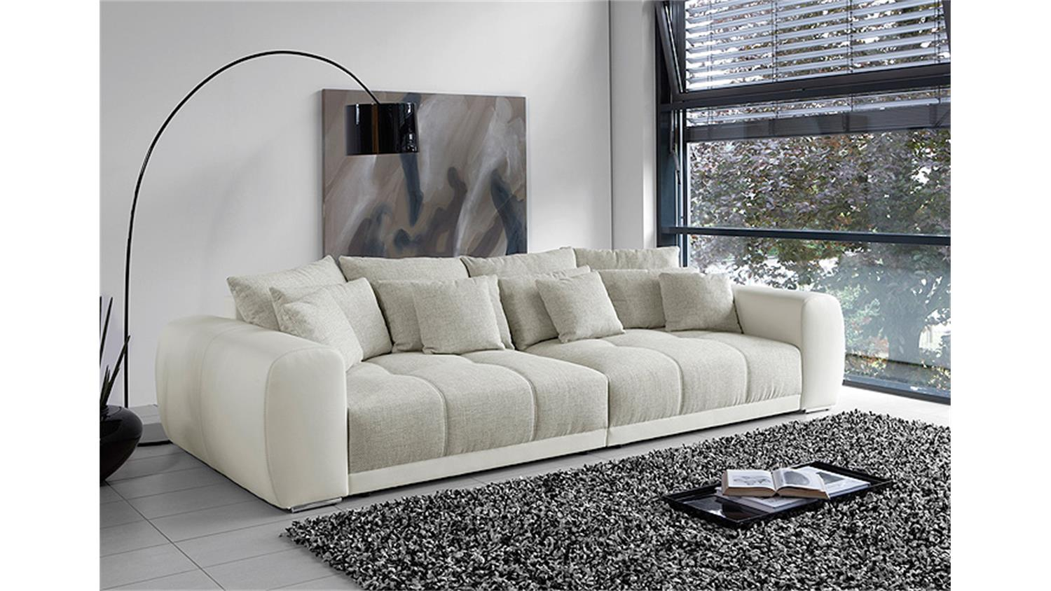 Big Sofa Sam Polstermobel Xxl Sofa In Weiss Grau Beige 310