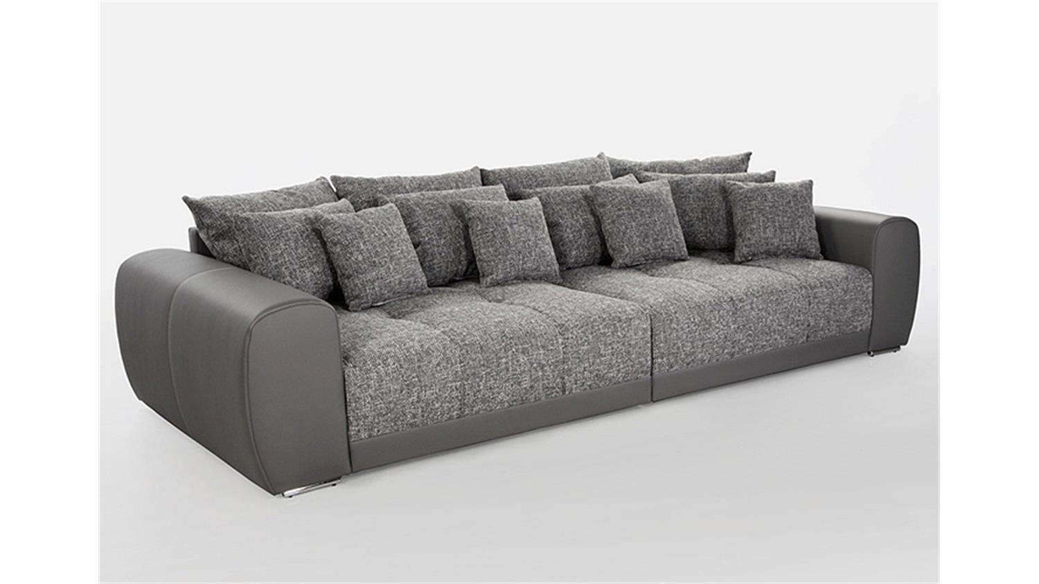 big sofa sam polsterm bel xxl sofa in grau hellgrau 310 cm. Black Bedroom Furniture Sets. Home Design Ideas