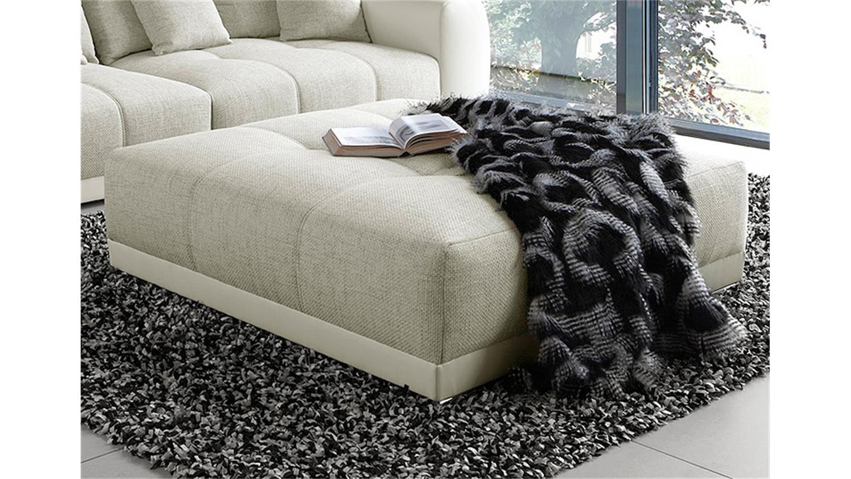 hocker sam polsterm bel xxl hocker in wei grau beige 120. Black Bedroom Furniture Sets. Home Design Ideas