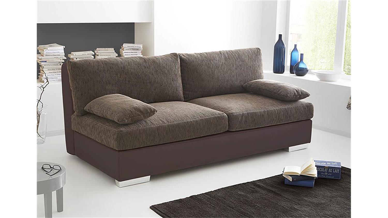 Schlafsofa dorset sofa boxspring braun mit bettkasten for Boxspring schlafcouch mit bettkasten