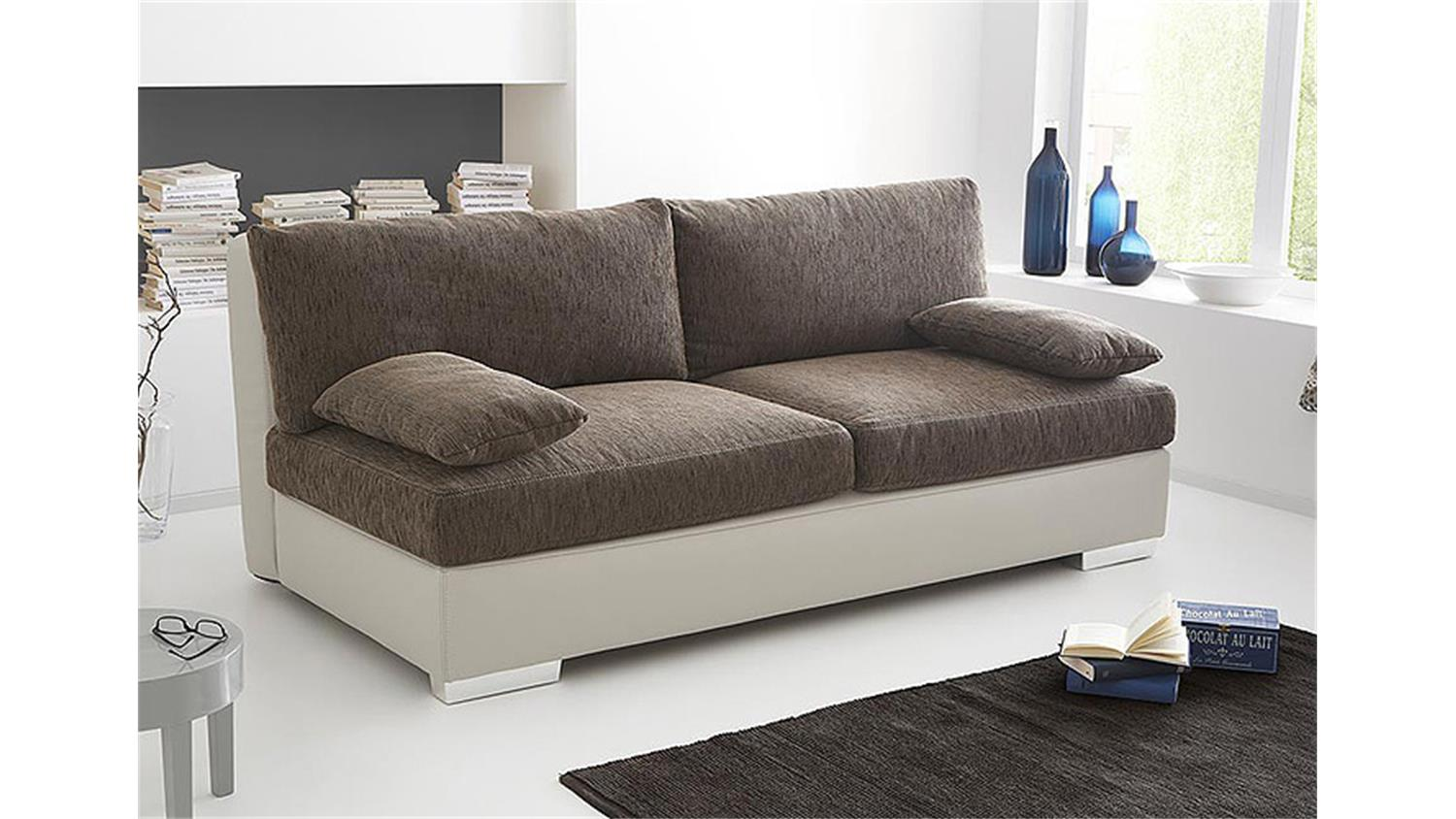 schlafsofa dorset sofa boxspring in greige braun 202 cm. Black Bedroom Furniture Sets. Home Design Ideas