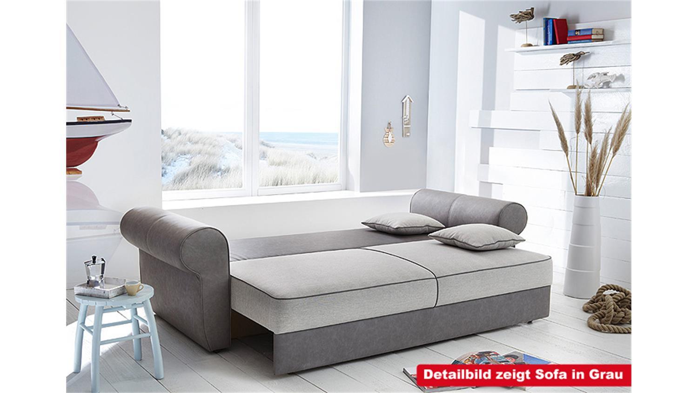 schlafsofa landini sofa dauerschl ger in braun beige wei. Black Bedroom Furniture Sets. Home Design Ideas