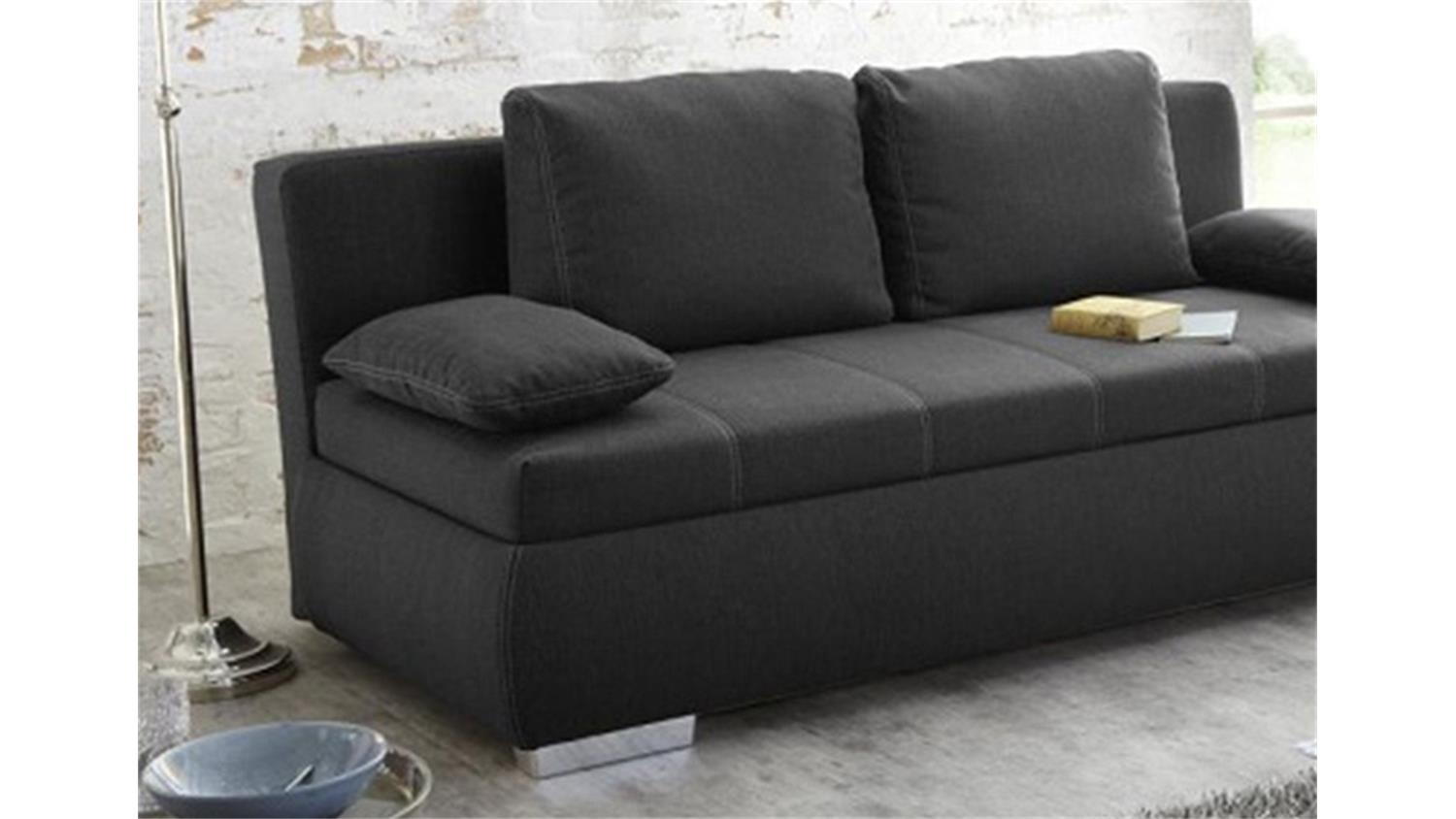 boxspring schlafsofa memphis sofa dauerschl fer in grau. Black Bedroom Furniture Sets. Home Design Ideas