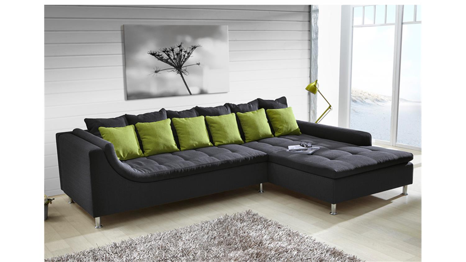 ledersofa dunkelgrau. Black Bedroom Furniture Sets. Home Design Ideas