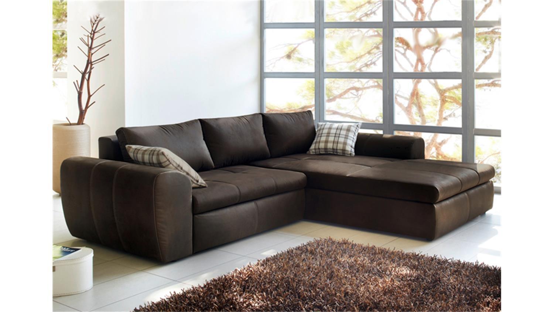 ecksofa wohnlandschaft cascada antik braun mit bettfunktion. Black Bedroom Furniture Sets. Home Design Ideas