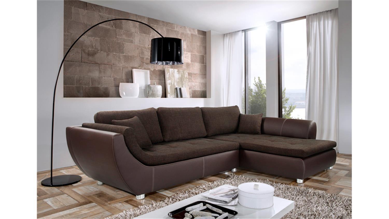 ecksofa wohnlandschaft avus strukturstoff braun. Black Bedroom Furniture Sets. Home Design Ideas