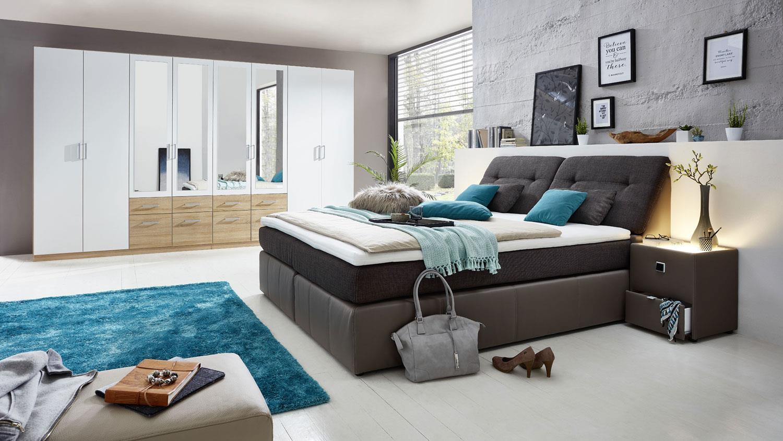 boxspringbett vicky bett 180x200 braun und elefant. Black Bedroom Furniture Sets. Home Design Ideas