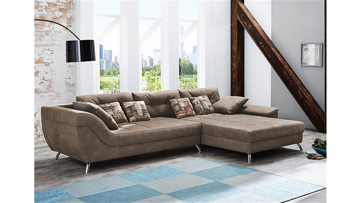 Stylische Sofas san francisco sofa ecksofa in antikbraun