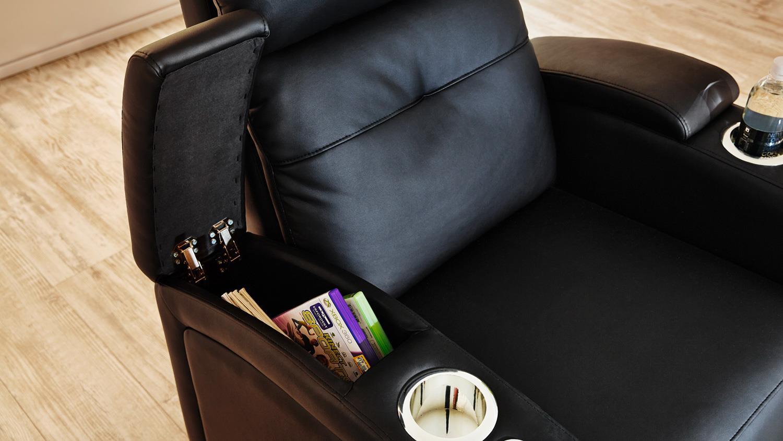 Tv sessel mit getränkehalter  Sessel HOUSTON 1 in schwarz mit Getränkehalter