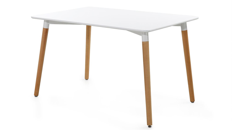 esstisch gr nland tisch in wei lack beine buche massiv 120x80. Black Bedroom Furniture Sets. Home Design Ideas