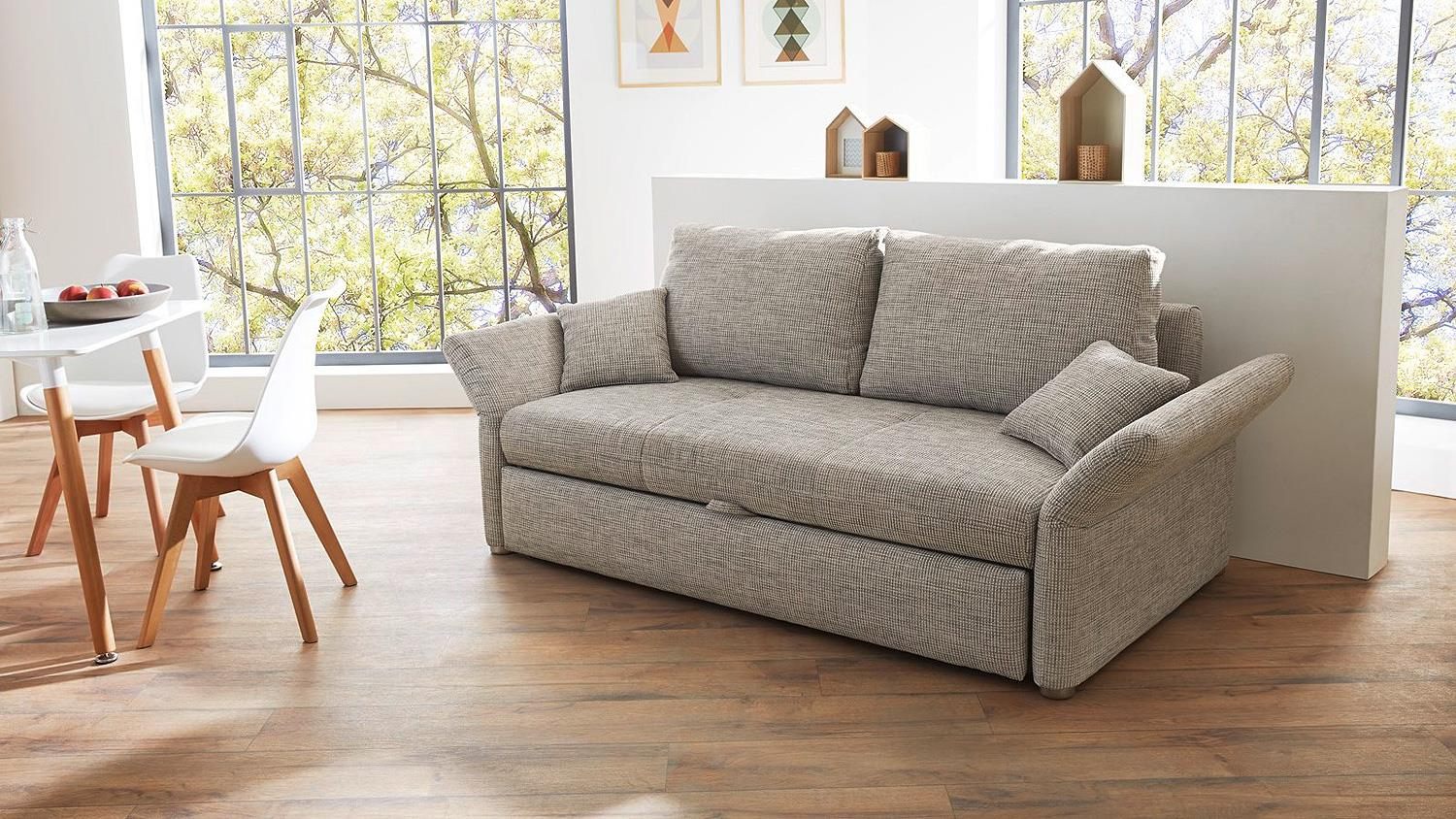 funktionssofa luca sofa in grau mit bettfunktion 140 cm. Black Bedroom Furniture Sets. Home Design Ideas