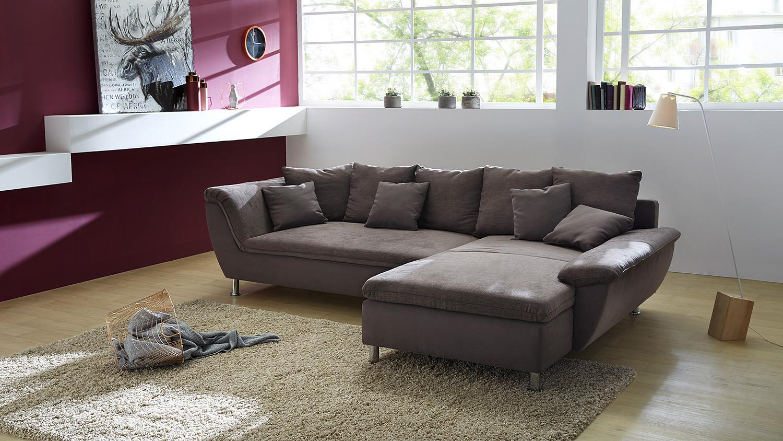 wohnlandschaft amarillo ecksofa sofa in braun 295 cm. Black Bedroom Furniture Sets. Home Design Ideas