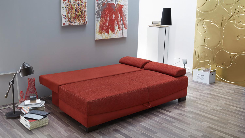 Funktionssofa angelosa schlafsofa sofa in rot 200 cm for Schlafsofa 200 cm