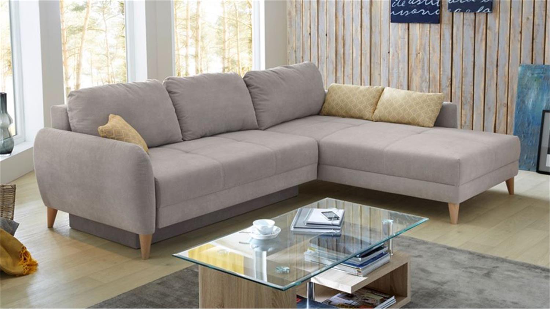 Sofa Kopenhagen kopa ecksofa in beige 285x213 cm