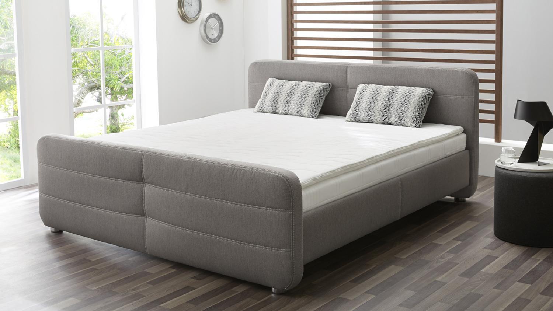 boxspringbett mira 180x200 grau bonell federkernpolsterung. Black Bedroom Furniture Sets. Home Design Ideas