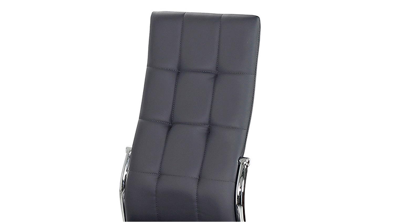 Stuhl FREIBURG 4er-Set in grau mit Karosteppung