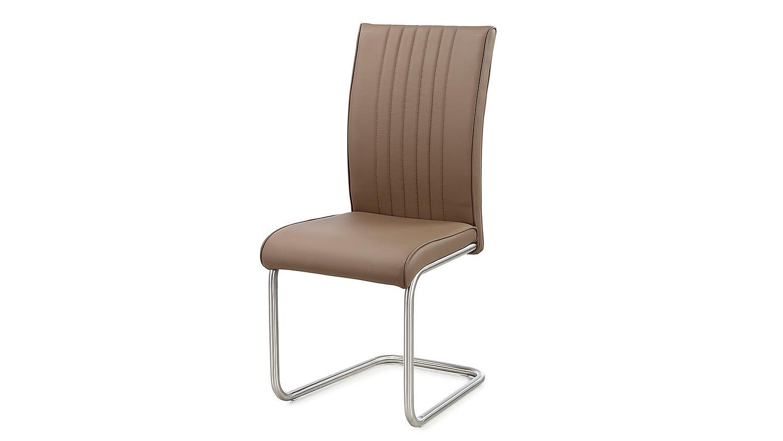 Schwingstuhl pool 4er set stuhl cappuccino und edelstahl for Schwingstuhl cappuccino