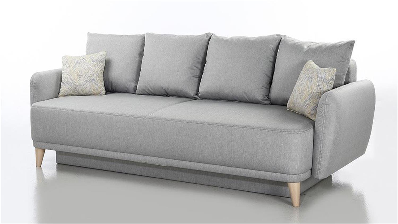 funktionssofa finn schlafsofa in hellgrau 230 cm. Black Bedroom Furniture Sets. Home Design Ideas