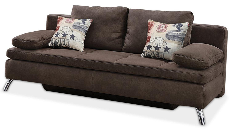 schlafsofa jamaika sofa in dunkelbraun