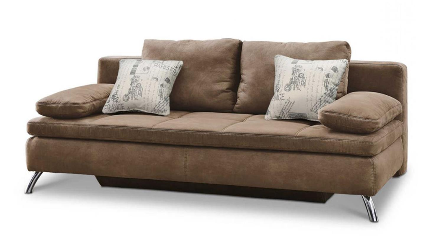 schlafsofa jamaika sofa in cognac braun. Black Bedroom Furniture Sets. Home Design Ideas