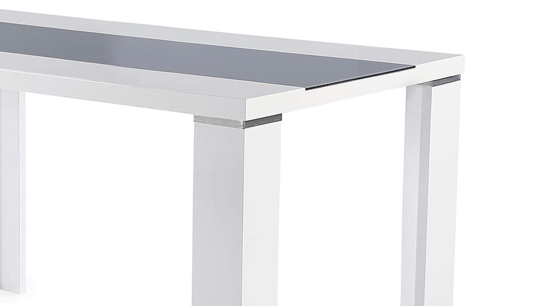Esstisch ahaus in glas grau und wei hochglanz 140x80 cm for Esstisch grau weiss