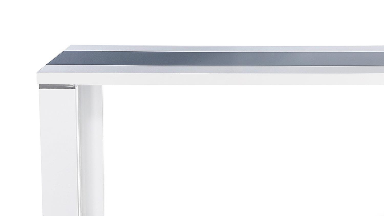 esstisch ahaus eleganter esstisch 140x80 cm in der farbe weiß mit ...