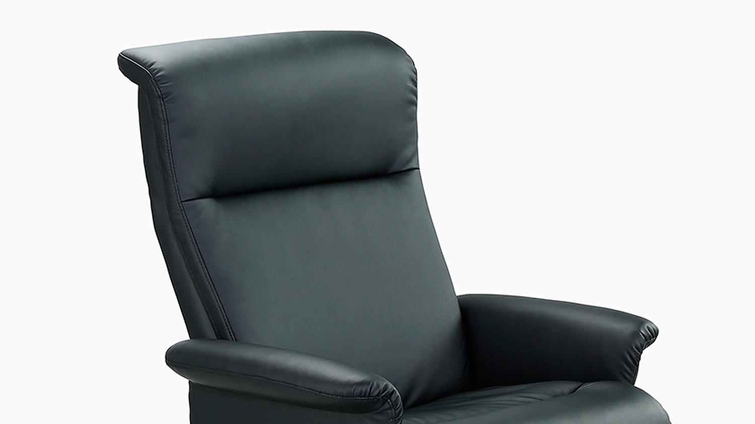 relaxsessel ricarda relax chair in schwarz inkl hocker. Black Bedroom Furniture Sets. Home Design Ideas