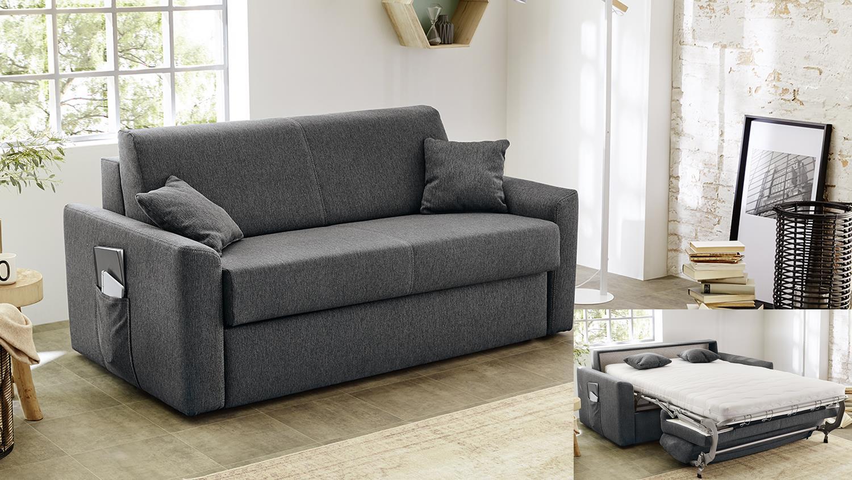 schlafsofa steve in stoff anthrazit mit schlaffunktion. Black Bedroom Furniture Sets. Home Design Ideas