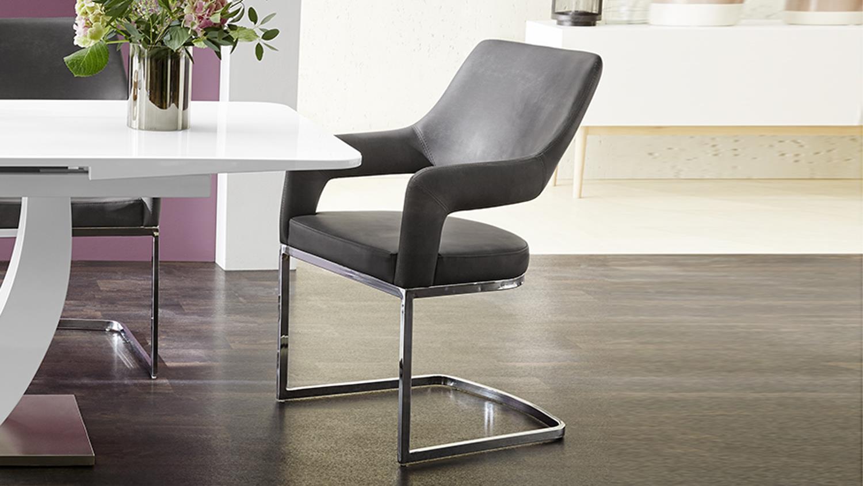 schwingstuhl 4er set beate stuhl esszimmerstuhl in vintage. Black Bedroom Furniture Sets. Home Design Ideas