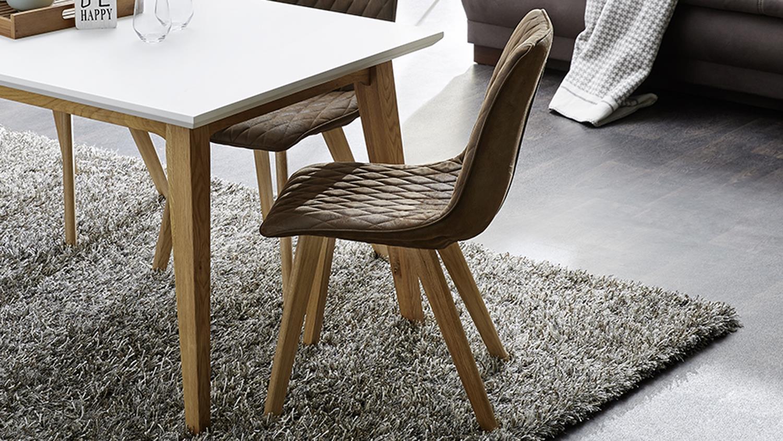 4er set stuhl vita vierfu stuhl in stoff antikbraun eiche massiv ge lt. Black Bedroom Furniture Sets. Home Design Ideas