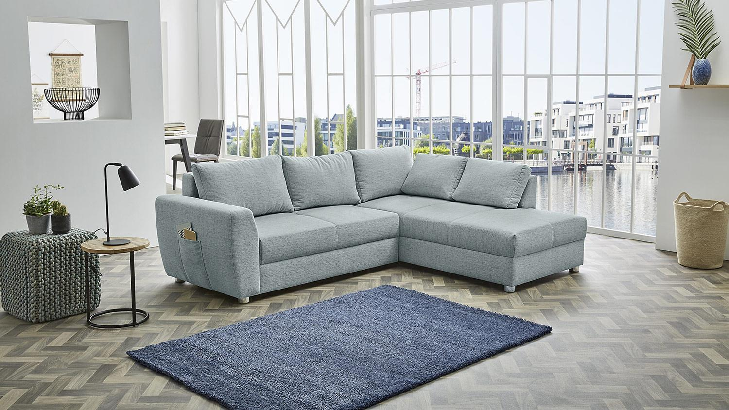 Ecksofa Feldberg Sofa Wohnlandschaft In Mint Grun Bettfunktion 251x197