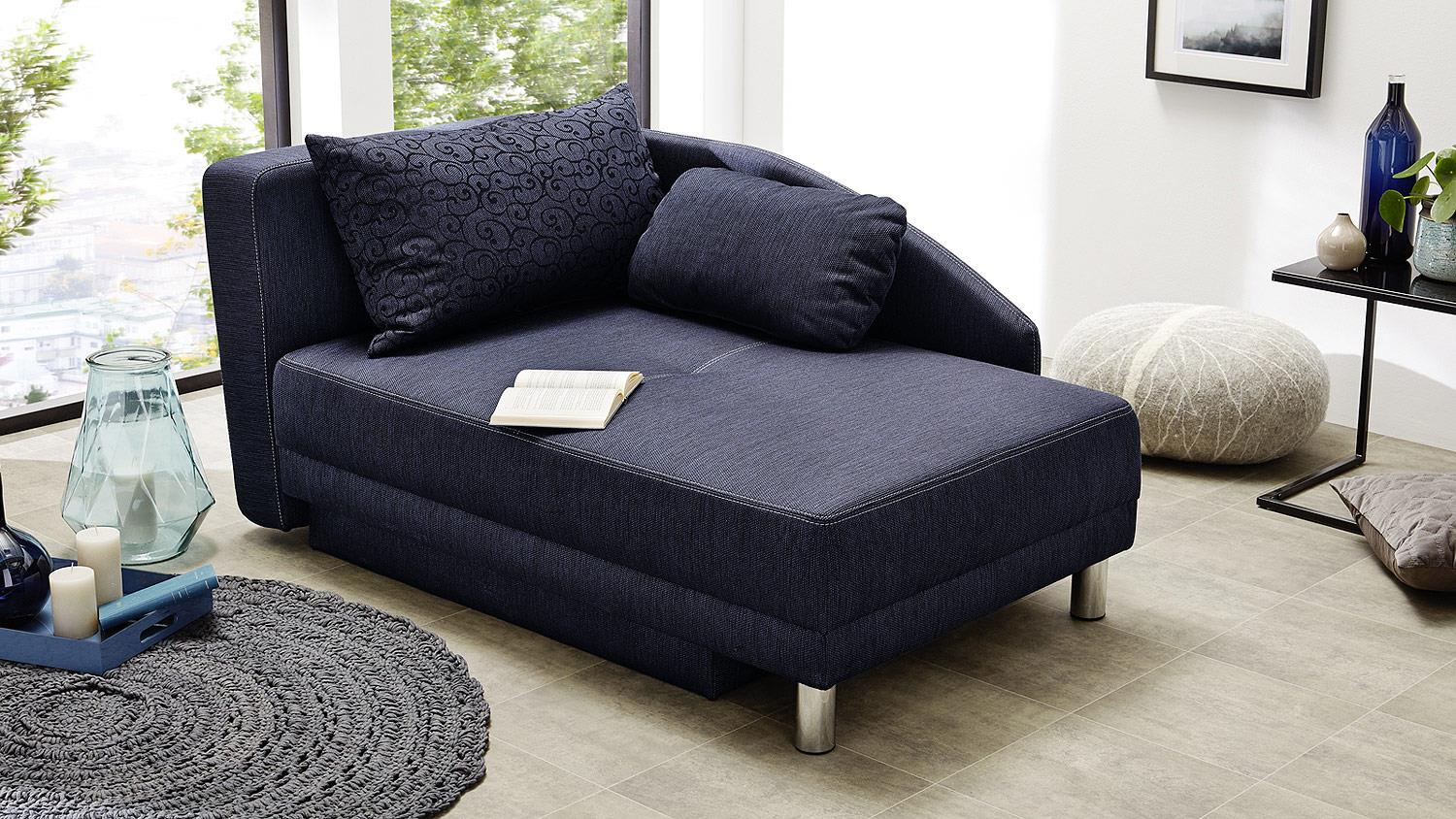 recamiere roy sofa funktionssofa dunkel blau schlaffunktion bettkasten. Black Bedroom Furniture Sets. Home Design Ideas