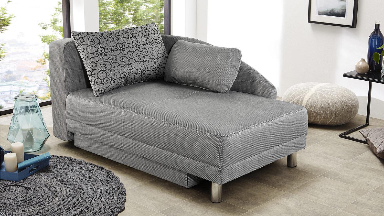 recamiere roy sofa liege schwarz wei schlaffunktion bettkasten. Black Bedroom Furniture Sets. Home Design Ideas