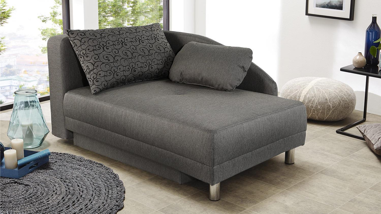 Recamiere ROY Sofa Funktionssofa in braun Schlaffunktion Bettkasten