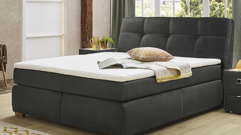 boxspringbett chiara bett schlafzimmerbett in antik grau. Black Bedroom Furniture Sets. Home Design Ideas