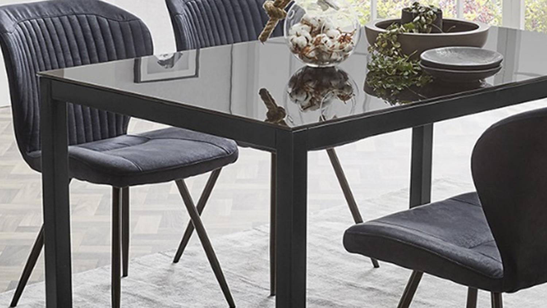 Esstisch Schwarz Glas : esstisch timbas esszimmertisch tisch in schwarz mit glas ~ Watch28wear.com Haus und Dekorationen