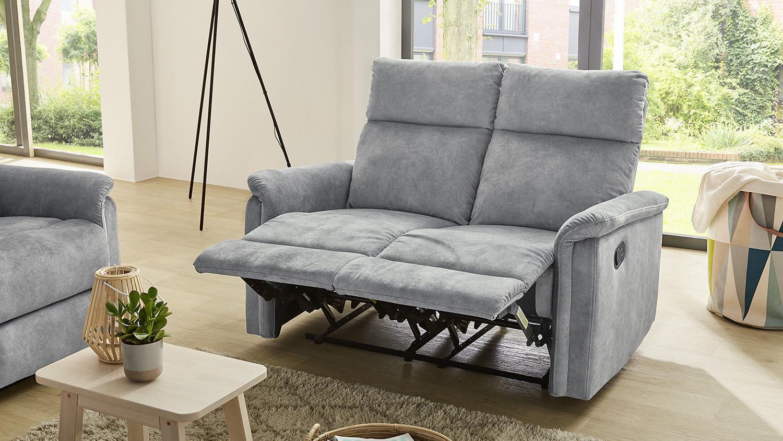 sofa amrum sessel relaxsessel 2 sitzer mit funktion vintage grau 130. Black Bedroom Furniture Sets. Home Design Ideas