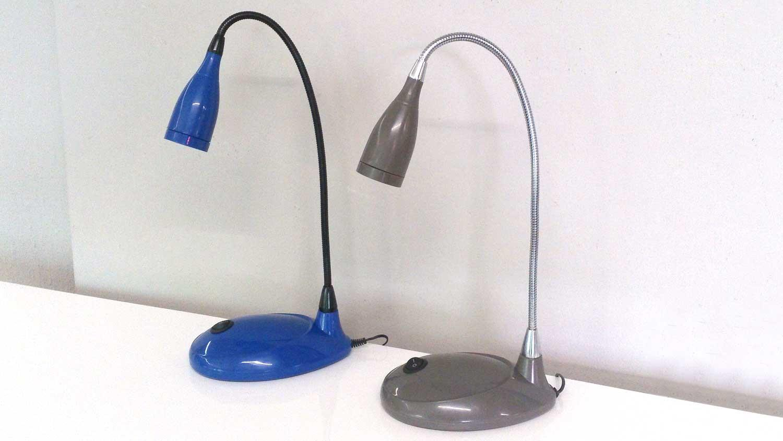 tischlampe blau schreibtischleuchte led mit schwanenhals. Black Bedroom Furniture Sets. Home Design Ideas