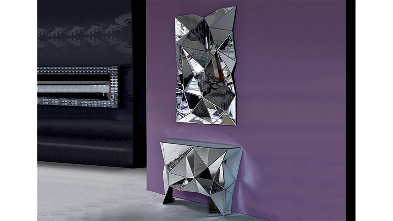 Kommode prisma komplett verspiegelt kare design for Design hangeleuchte
