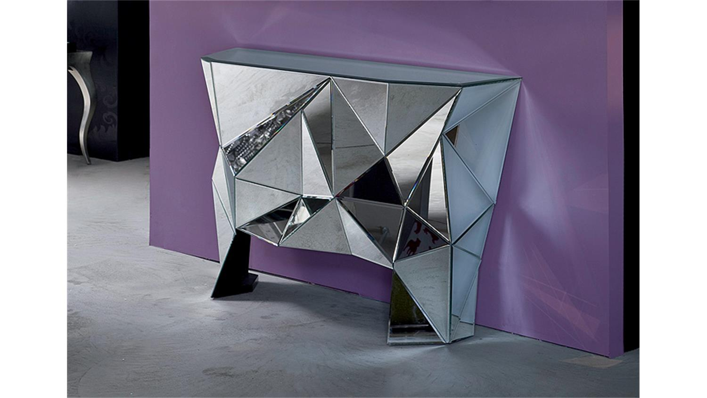 kommode mit spiegel prisma komplett verspiegelt kare design