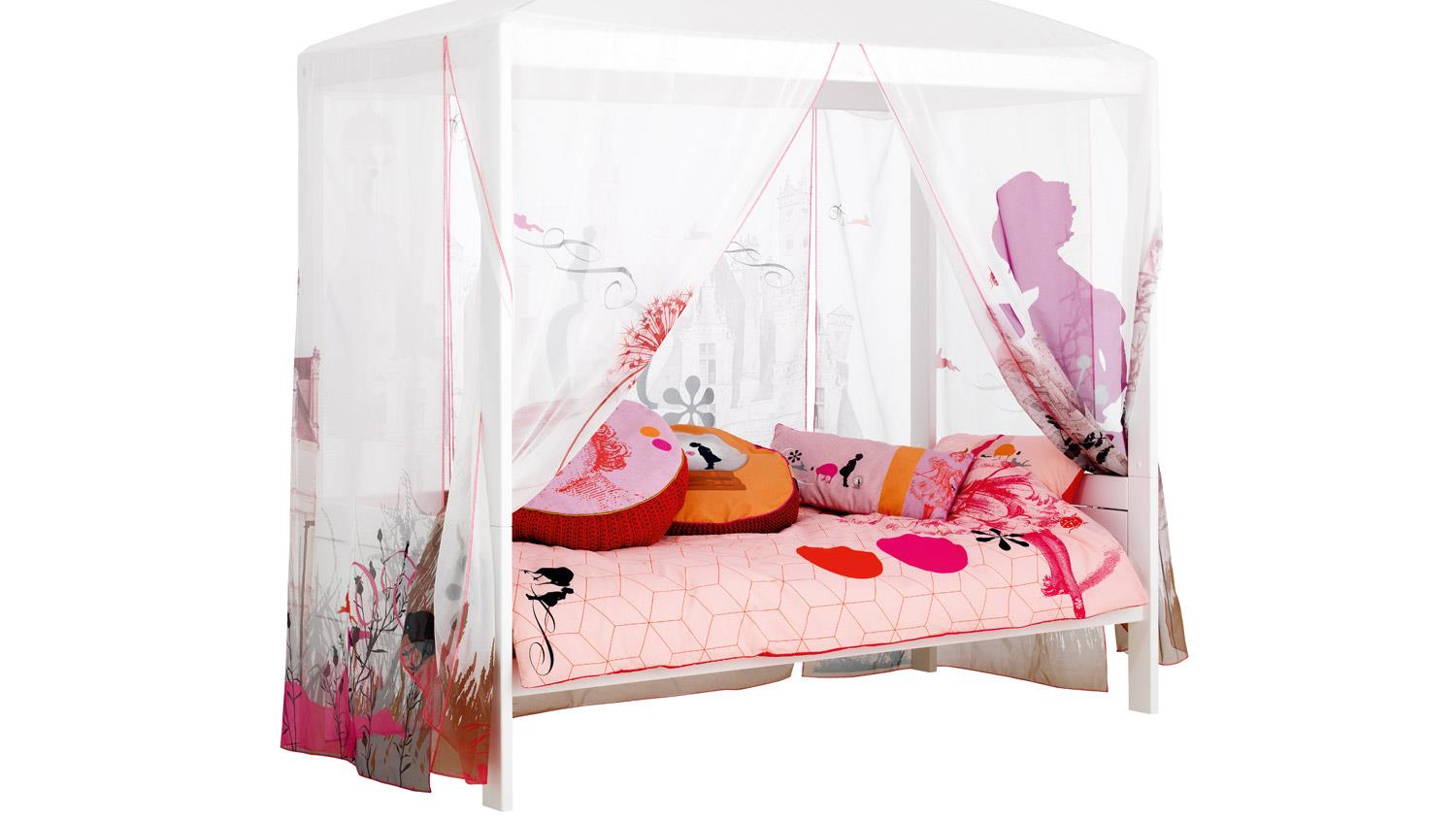 himmelbett wonderland kinderbett mit himmel kiefer massiv. Black Bedroom Furniture Sets. Home Design Ideas