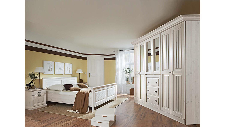 bett malta 2 landhaus in kiefer massiv wei 180x200. Black Bedroom Furniture Sets. Home Design Ideas