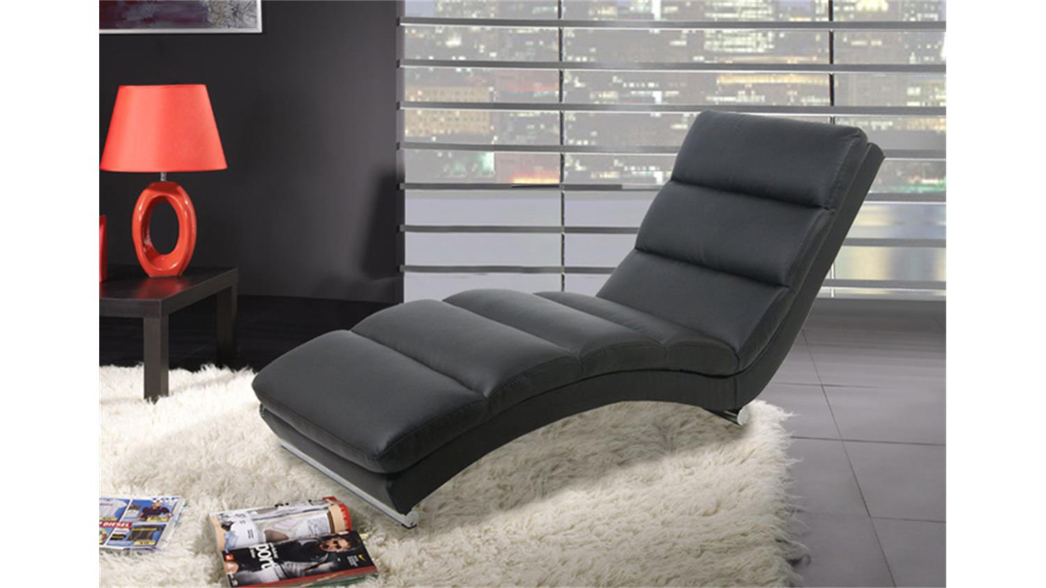 relaxliege hollywood liege chaiselongue schwarz. Black Bedroom Furniture Sets. Home Design Ideas