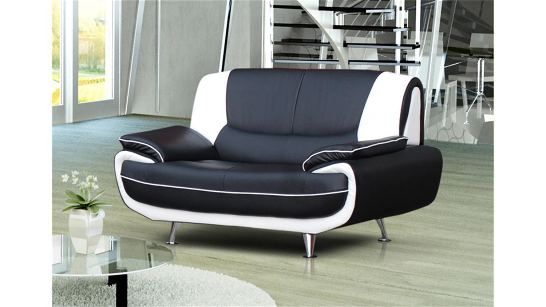 sofagarnitur palermo in schwarz und wei mit metallf en. Black Bedroom Furniture Sets. Home Design Ideas