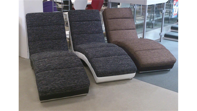 relaxliege hollywood chaiselongue in schwarz und grau. Black Bedroom Furniture Sets. Home Design Ideas